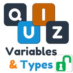 Quiz 1 : variables et types