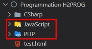 sous dossier pseudo code au programme