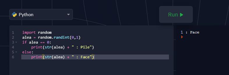 programme python -pseudo code au programme