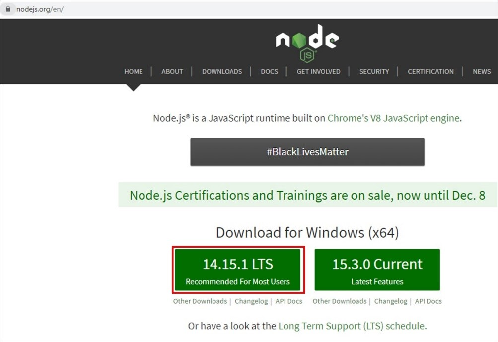 installation de Node.JS